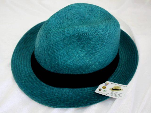 Trendy colour Panama Hat - Classic Briza Wave Turquoise